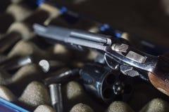枪火器 .38口径左轮手枪 库存图片