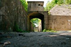 枪灰浆电池和地堡在桑迪勾子新泽西 库存图片