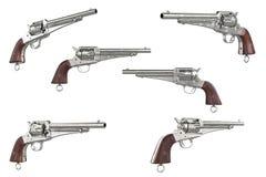 枪牛仔汇集 免版税库存图片
