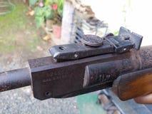 枪狩猎乐趣枪的葡萄酒图象 库存图片