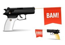 枪玩具 皇族释放例证
