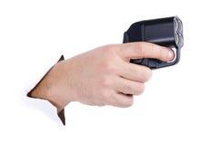 枪现有量创伤白色 免版税库存照片