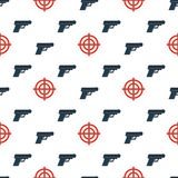 枪瞄准无缝的pattern2 库存照片