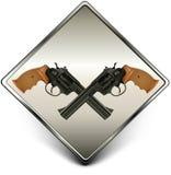 枪符号 库存例证