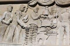 枪装载浅浮雕,波兹毛斯 免版税库存照片