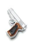 枪银色玩具 免版税库存照片