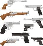 枪集合 向量例证