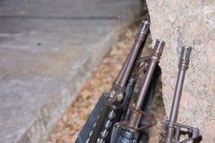枪M-16武器设备皇家海军 免版税库存图片