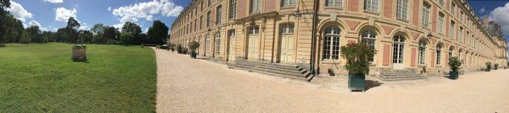 枫丹白露宫全景,法国 库存图片