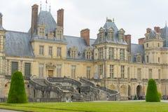 枫丹白露宫在法国 免版税库存照片