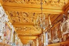 枫丹白露宫殿内部 画廊弗朗切斯科 大别墅是 库存图片