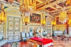 枫丹白露宫殿内部 路易斯八世沙龙 大别墅w 免版税库存图片
