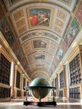 枫丹白露宫殿图书馆。 库存图片