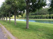 枫丹白露,法国公园  库存图片