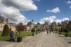 枫丹白露,法国宫殿  免版税库存照片