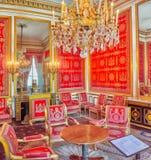 枫丹白露,法国- 2016年7月09日:枫丹白露宫殿int 库存图片