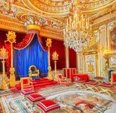 枫丹白露,法国- 2016年7月09日:枫丹白露宫殿int 免版税库存照片