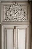 枫丹白露,法国- 2015年8月15日:细节、雕象和家具 免版税库存图片