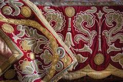 枫丹白露,法国- 2015年8月15日:细节、雕象和家具 免版税图库摄影