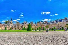 枫丹白露,法国- 2016年7月09日:Th郊区住所  免版税库存图片