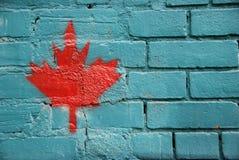 枫叶街道画,多伦多,加拿大 库存图片