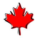 枫叶-加拿大的标志 库存例证