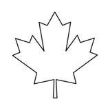 枫叶绿色标志加拿大人概述 免版税库存图片