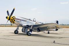 1945架北美洲P-51D野马金伯利Kaye战机 免版税库存图片