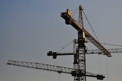 3架塔吊 免版税库存图片
