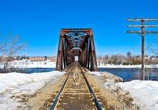 架桥列车 免版税图库摄影