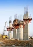 架桥工程 免版税库存图片