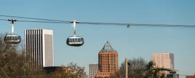 架空索道波特兰俄勒冈街市市地平线缆车 免版税图库摄影