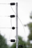 架线的1个电范围 免版税库存照片