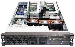 架装安装服务器白色 免版税库存图片