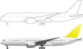 0 8架飞机可用的eps例证版本 免版税图库摄影