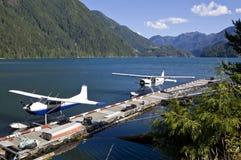 2架水上飞机 库存图片