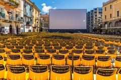 洛枷诺国际影片竞赛 免版税库存照片