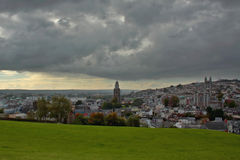 黄柏城市全景  爱尔兰 库存图片