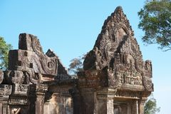 柏威夏寺,柬埔寨第四Gopura  免版税库存图片