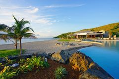 柏悦St基茨希尔度假旅馆在圣基茨和尼维斯 免版税库存图片