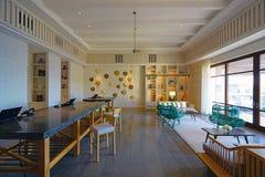 柏悦St基茨希尔度假旅馆在圣基茨和尼维斯 图库摄影
