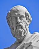 柏拉图哲学家雕象 库存照片