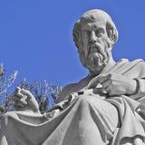 柏拉图哲学家雕象 免版税库存照片
