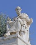 柏拉图哲学家雕象 免版税库存图片