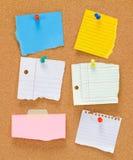 黄柏板和笔记 免版税图库摄影
