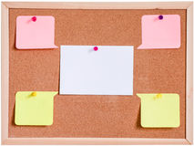 黄柏板和被隔绝的白纸白色 免版税库存照片