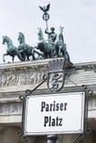 柏林。Pariser普拉茨 图库摄影