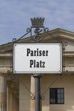 柏林。Pariser普拉茨 库存图片