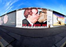 柏林东部画廊侧面墙 免版税库存照片