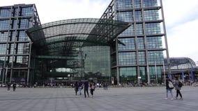柏林中央车站,主要火车站 影视素材